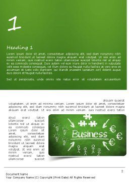 Business Development Concept Word Template First Inner Page