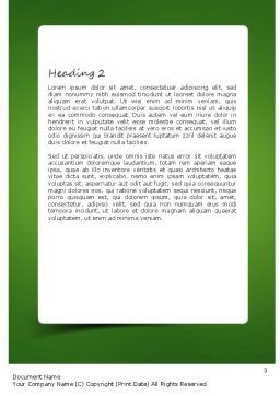 Business Development Concept Word Template Second Inner Page