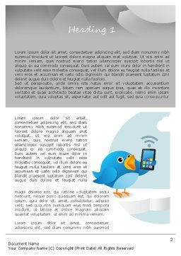 Tweeting Word Template, First Inner Page, 11093, Telecommunication — PoweredTemplate.com