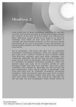 Tweeting Word Template Second Inner Page