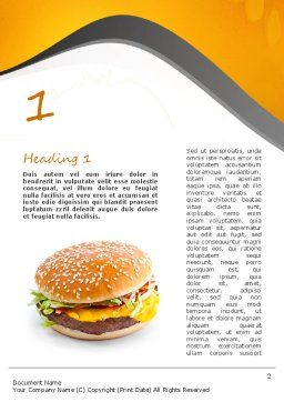 Tasty Burger Word Template, First Inner Page, 11097, Food & Beverage — PoweredTemplate.com