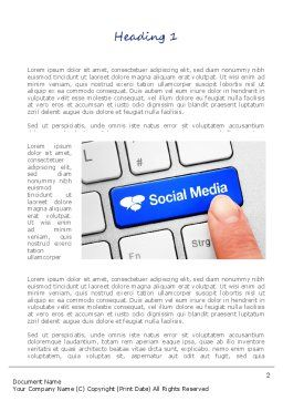 Social Media Keyboard Word Template, First Inner Page, 11100, Telecommunication — PoweredTemplate.com