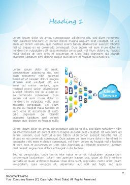 Cloud Service Word Template, First Inner Page, 11104, Technology, Science & Computers — PoweredTemplate.com