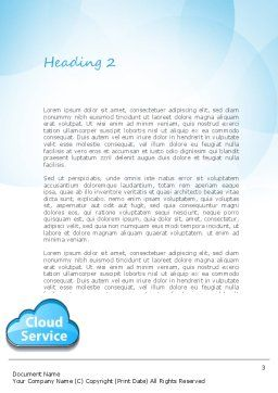 Cloud Service Word Template, Second Inner Page, 11104, Technology, Science & Computers — PoweredTemplate.com