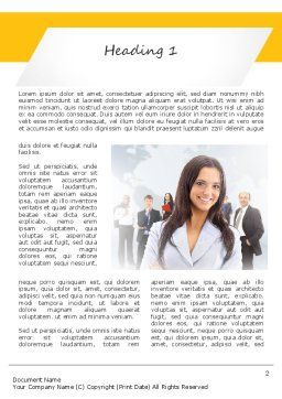 Business Woman Word Template, First Inner Page, 11108, People — PoweredTemplate.com
