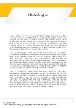 Business Woman Word Template Second Inner Page