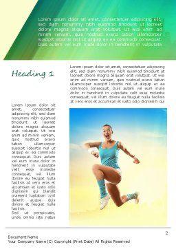 Girl Running Word Template, First Inner Page, 11109, Sports — PoweredTemplate.com