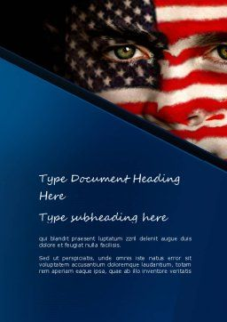 Deferred Action Word Template, Cover Page, 11111, America — PoweredTemplate.com