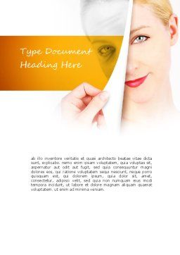 Skin Renewal Word Template, Cover Page, 11112, Careers/Industry — PoweredTemplate.com