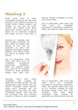 Skin Renewal Word Template, First Inner Page, 11112, Careers/Industry — PoweredTemplate.com
