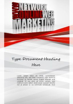 Web Marketing Word Template, Cover Page, 11113, Careers/Industry — PoweredTemplate.com