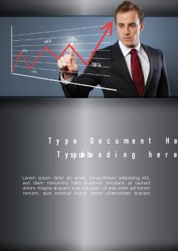 Trader Word Template, Cover Page, 11114, Financial/Accounting — PoweredTemplate.com