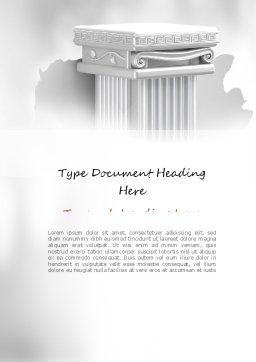 Pillar Word Template, Cover Page, 11116, Construction — PoweredTemplate.com