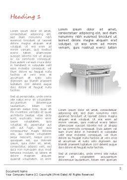 Pillar Word Template, First Inner Page, 11116, Construction — PoweredTemplate.com