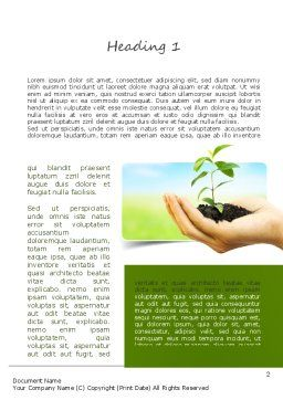 Environmental Conservation Word Template, First Inner Page, 11117, Nature & Environment — PoweredTemplate.com