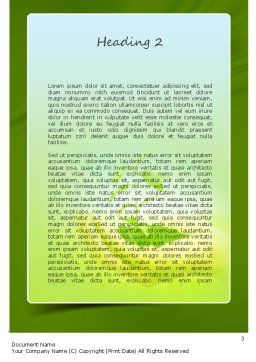 Environmental Conservation Word Template, Second Inner Page, 11117, Nature & Environment — PoweredTemplate.com
