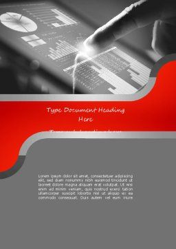 Online Data Word Template, Cover Page, 11119, Technology, Science & Computers — PoweredTemplate.com