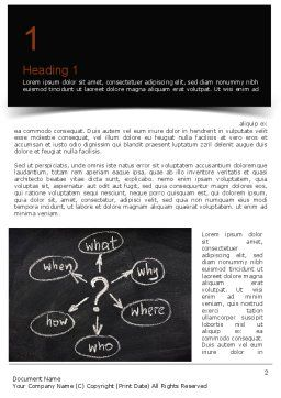 Leadership Coaching Word Template First Inner Page