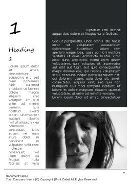 Distraught Woman Word Template First Inner Page