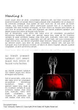 Lung Disease Word Template, First Inner Page, 11129, Medical — PoweredTemplate.com