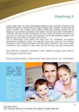 Daddy Word Template, First Inner Page, 11130, People — PoweredTemplate.com