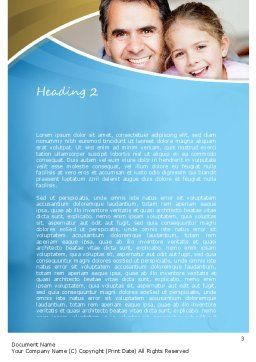 Daddy Word Template, Second Inner Page, 11130, People — PoweredTemplate.com