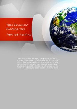 Earth Day Word Template, Cover Page, 11132, Global — PoweredTemplate.com