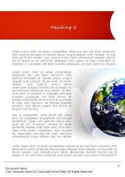 Earth Day Word Template, First Inner Page, 11132, Global — PoweredTemplate.com