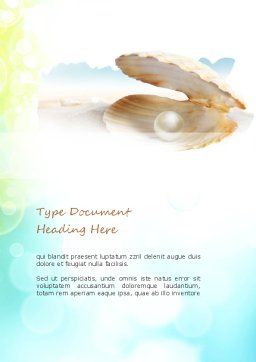 Pearl in the Shell Word Template Cover Page