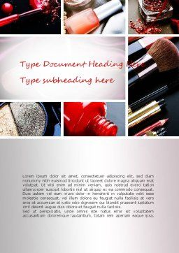 Makeup Tools Word Template, Cover Page, 11138, Careers/Industry — PoweredTemplate.com
