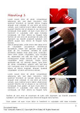 Makeup Tools Word Template, First Inner Page, 11138, Careers/Industry — PoweredTemplate.com