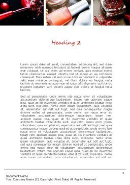Makeup Tools Word Template, Second Inner Page, 11138, Careers/Industry — PoweredTemplate.com