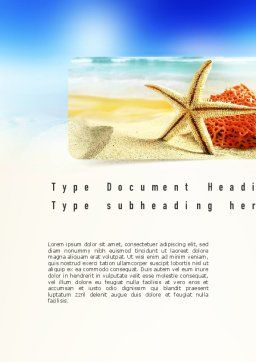 Summer Theme Word Template, Cover Page, 11139, Holiday/Special Occasion — PoweredTemplate.com