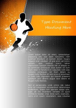 Basketball Man Word Template, Cover Page, 11140, Sports — PoweredTemplate.com