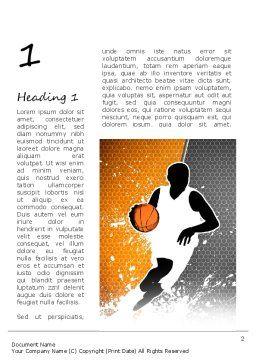 Basketball Man Word Template, First Inner Page, 11140, Sports — PoweredTemplate.com