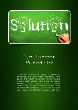 Questions and Solutions Word Template, Cover Page, 11141, Education & Training — PoweredTemplate.com
