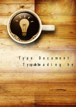 Creative Idea Word Template Cover Page