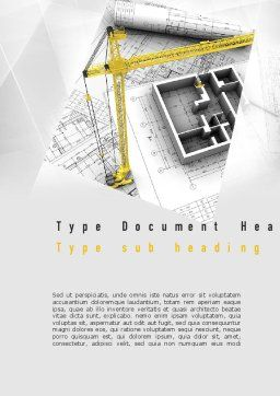 Constructing Word Template, Cover Page, 11143, Construction — PoweredTemplate.com