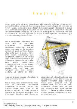 Constructing Word Template, First Inner Page, 11143, Construction — PoweredTemplate.com