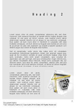 Constructing Word Template, Second Inner Page, 11143, Construction — PoweredTemplate.com