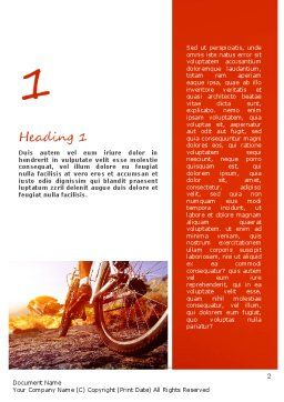 Active Leisure Word Template, First Inner Page, 11145, Sports — PoweredTemplate.com