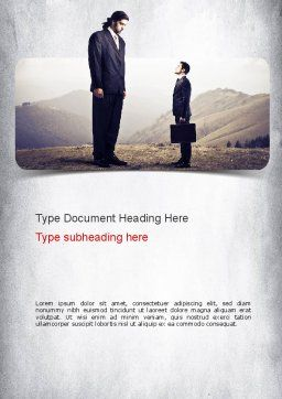 Subordinate Word Template, Cover Page, 11146, People — PoweredTemplate.com