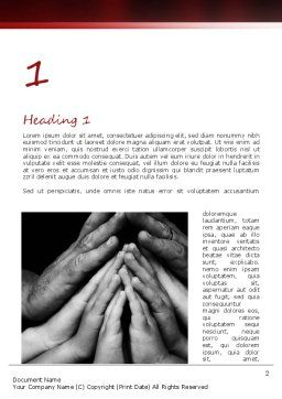 Family Praying Word Template, First Inner Page, 11147, Religious/Spiritual — PoweredTemplate.com