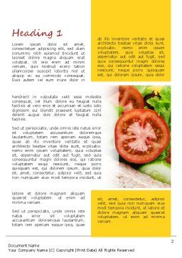 Healthy Sandwich Word Template, First Inner Page, 11149, Food & Beverage — PoweredTemplate.com