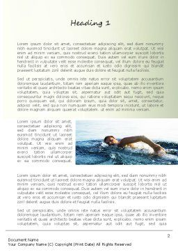 Ocean Swimmer Word Template, First Inner Page, 11150, Sports — PoweredTemplate.com