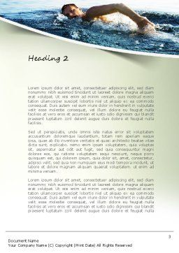 Ocean Swimmer Word Template, Second Inner Page, 11150, Sports — PoweredTemplate.com