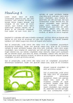 Ecological Car Word Template, First Inner Page, 11151, Technology, Science & Computers — PoweredTemplate.com