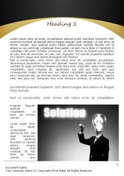 Profit Solution Word Template, First Inner Page, 11152, Business Concepts — PoweredTemplate.com