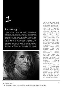 Dollar Word Template, First Inner Page, 11154, Financial/Accounting — PoweredTemplate.com
