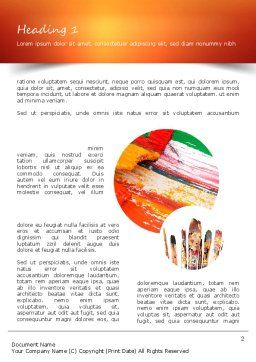 Paintbrushes Word Template First Inner Page